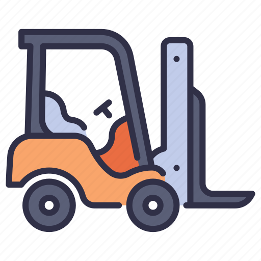 forklift, industrial, industry, transportation, truck, vehicle, warehouse icon