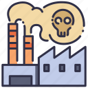 environment, factory, industrial, industry, pollution, power, smoke icon