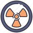caution, industry, nuclear, pollution, power, radiation, radioactive icon