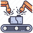 factory, industrial, industry, machine, manufacturing, technology, welding icon
