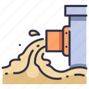 environment, industrial, industry, pollution, sewage, waste, water icon