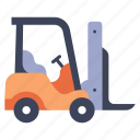 forklift, industrial, industry, transportation, truck, vehicle, warehouse