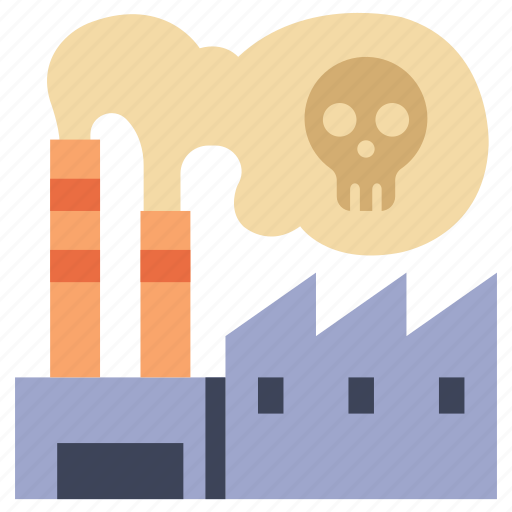 environment, factory, industrial, industry, plant, pollution, smoke icon