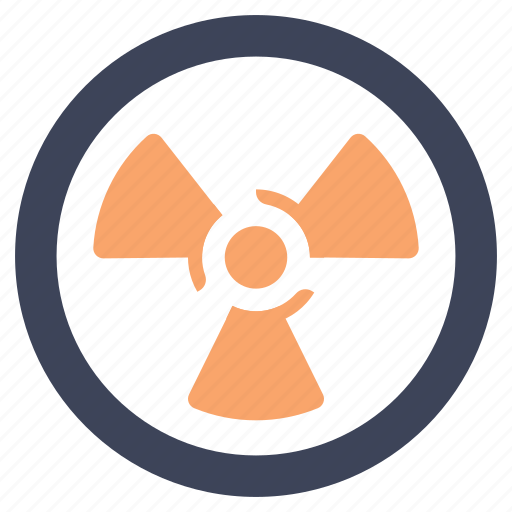 caution, danger, nuclear, pollution, power, radiation, radioactive icon