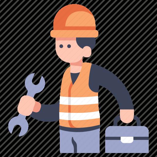 Engineer, industry, maintenance, man, repair, technician, worker icon - Download on Iconfinder