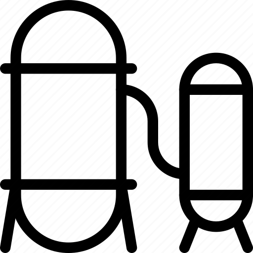 industry, line-icon, silo, storage, store icon