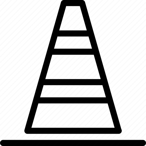 cone, industry, line-icon, road, sign, signal, traffic icon