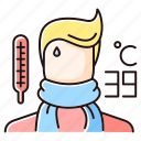 cold, color, flu, infection, influenza, respiratory, virus icon