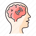 brain, color, disease, infection, inflammation, meningitis, neurology