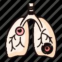 color, disease, mycoplasma, pneumonia, pulmonary, respiratory, streptococcus icon