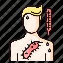 rash, virus, measles, color, infection, rubella, chickenpox icon