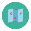 location, map, travel pointer icon