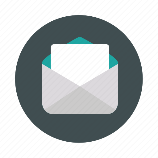 mail, open envelope, open mail, post icon