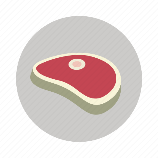 beef, meat, pork, raw meat, slice icon