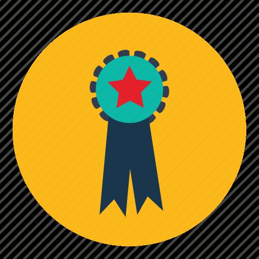 badge, felicitation, medal, winner icon