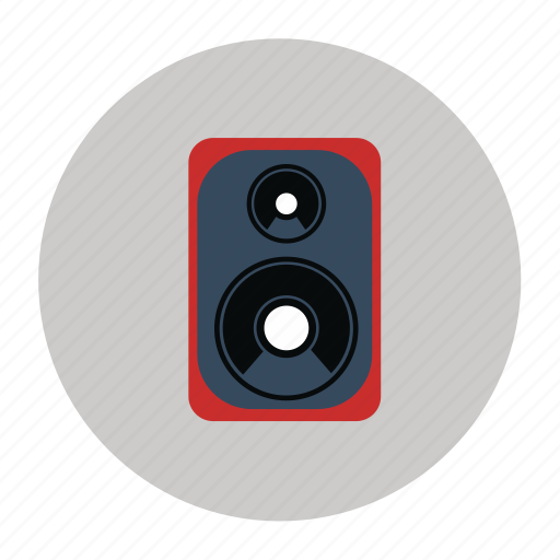audio system, music, songs, speaker, stereo system, system, woofer icon