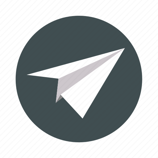 origami, paper, paper aircraft, paper airplane, rocket icon