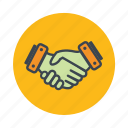 business handshake, collaboration, handshake, partnership icon