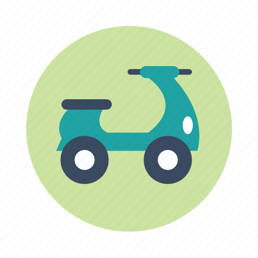 scooter, transport, travel, vehicle icon