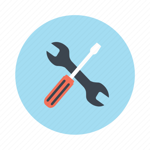 screwdriver, settings, tool, utility, wrench icon
