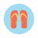 beach slippers, flip flops, footwear, slippers icon