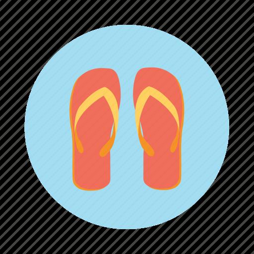 beach slippers, flip flops, footwear, slippers icon