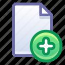 file, document, add, new