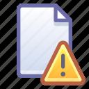 file, document, alert, warning