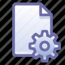file, document, settings, options