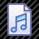 file, document, music, audio