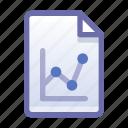 file, document, analytics, statistics