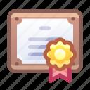 license, guarantee, certificate