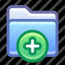 folder, add, new