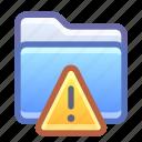 folder, alert, warning