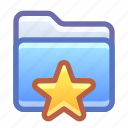 folder, favorite, star
