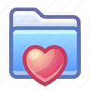 folder, favorite, heart