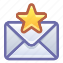 email, mail, favorite, star
