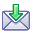 email, mail, receive, get