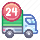 delivery, truck, 24/7