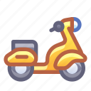 moped, scooter, motorbike