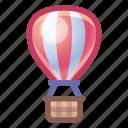 hot, air, balloon, travel