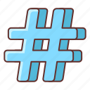 hashtag, marketing, sign icon