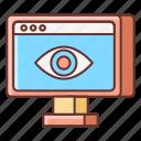 business, eye, impresions, marketing icon