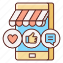 influencer, marketplace, shop icon