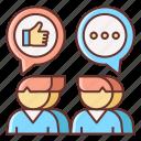 influencer, marketing, outreach icon