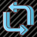 marketing, repeat, repost icon
