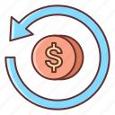 business, investment, on, return icon