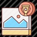 contest, marketing, social icon