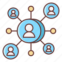 marketing, reach, social icon