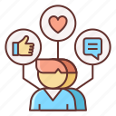 marketing, online, viral icon